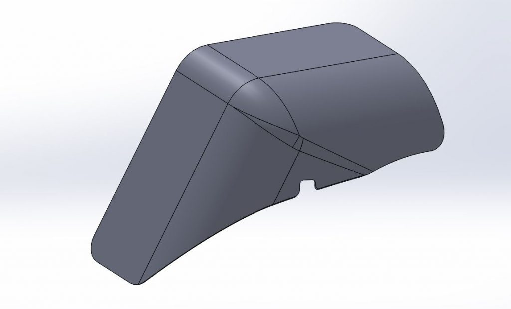 Carbon Fiber Fender CAD Model