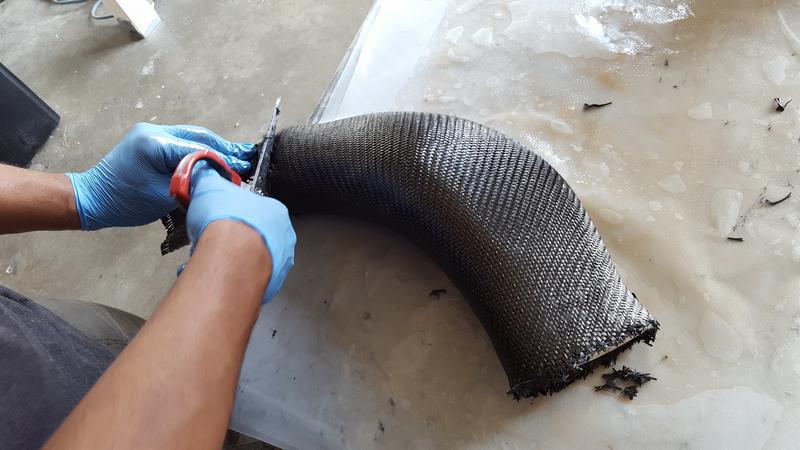 Layup for Custom Carbon Fiber Mustang GT Intake