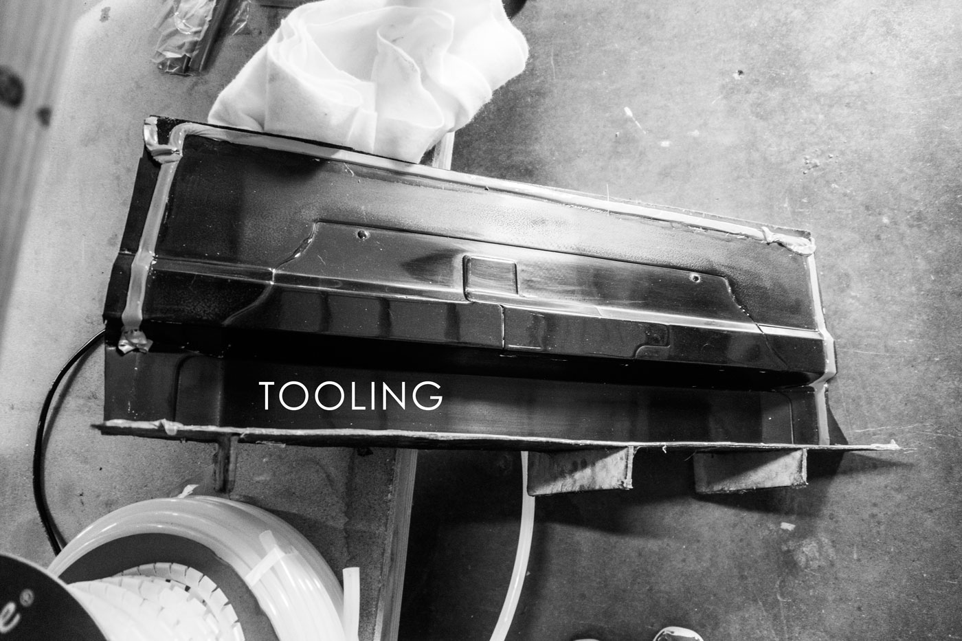 Tooling - Tooling is often the most expensive part of a project. Whether it is hand shaped foam, laser cut wood, splash molded fiberglass, or CNC machined metal tooling, we got you covered for any budget.