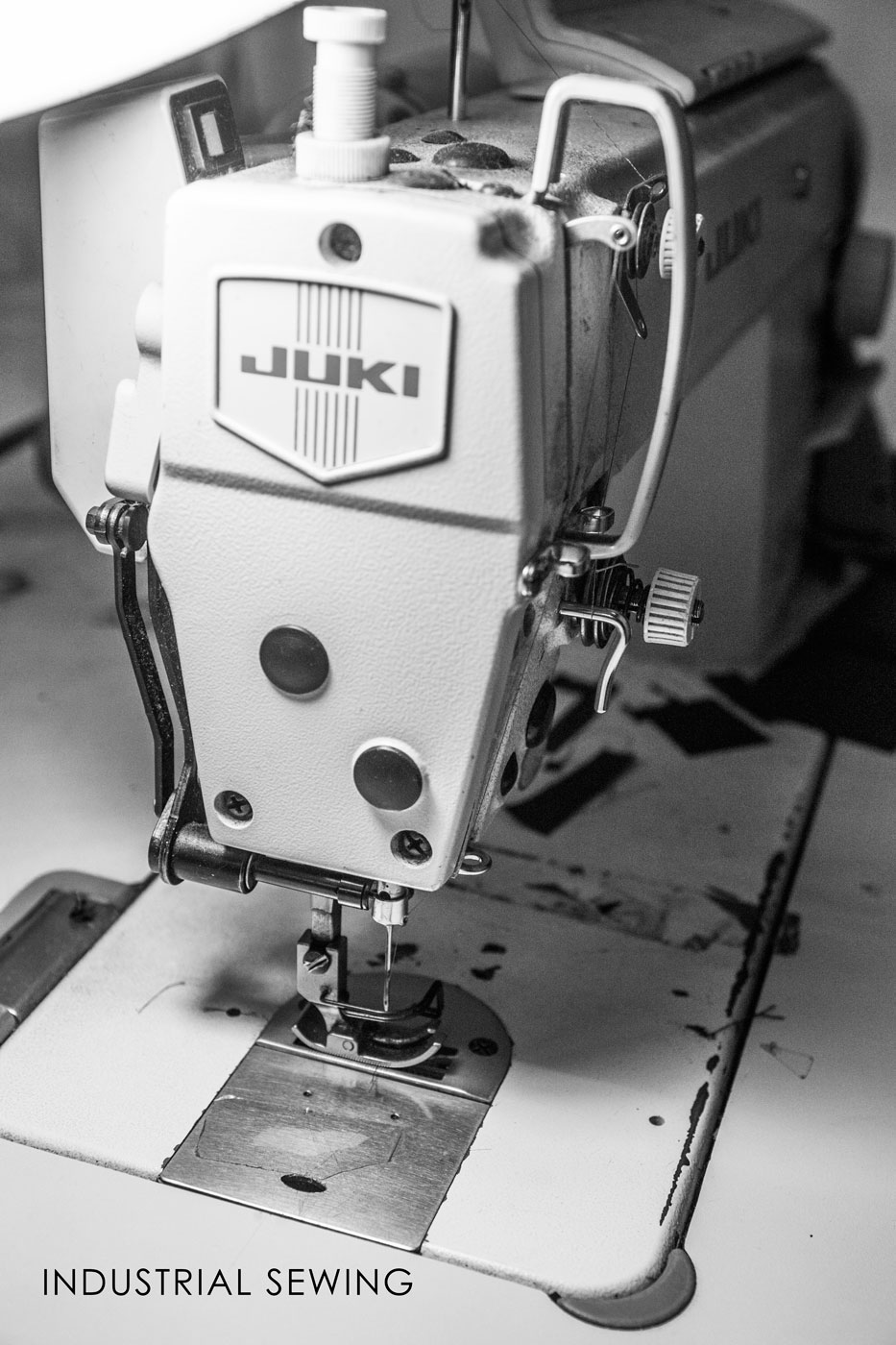 Industrial Sewing - Using our Industrial Juki sewing machines we can prototype textile products in the blink of an eye.  We also work closely with sewing contractors for any size textile project.