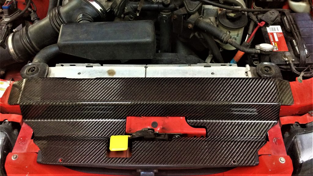 Installed Carbon Fiber Radiator Cover