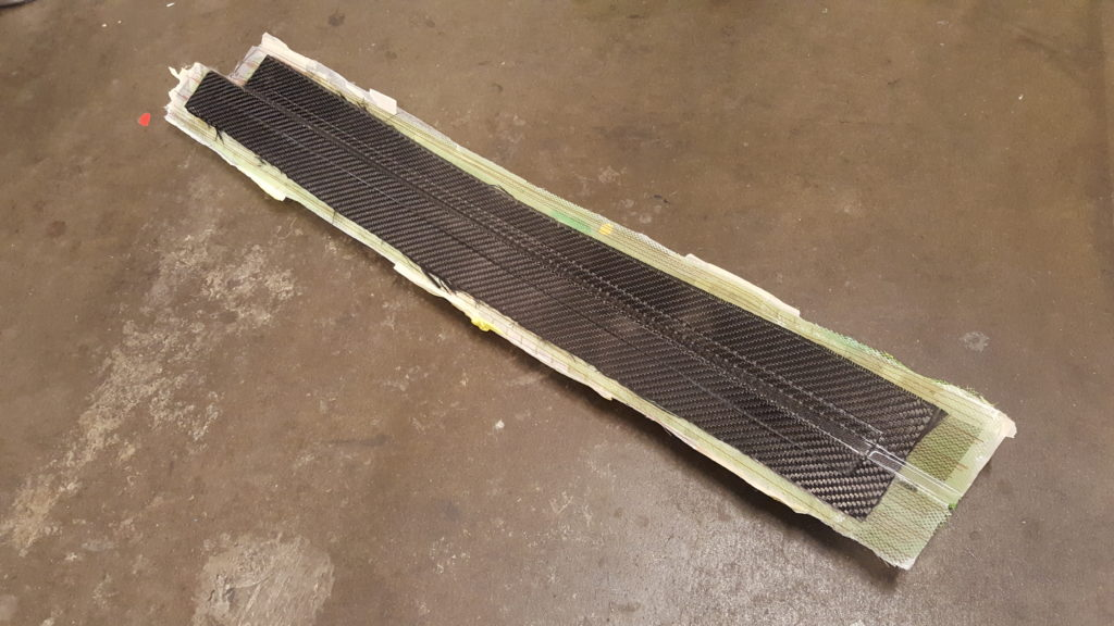 Final Carbon Fiber Part made with VARTM