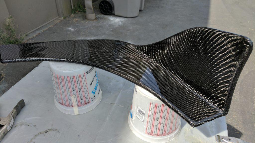 Resined carbon fiber custom wrapped canards