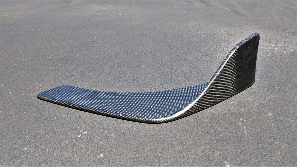 Finished Carbon Fiber Wrapped Canard
