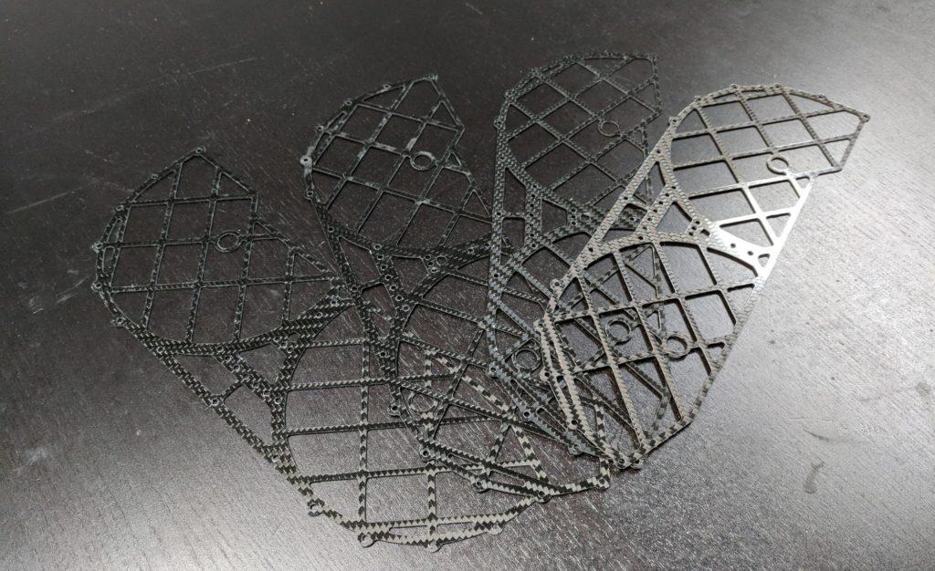 Carbon fiber drone components