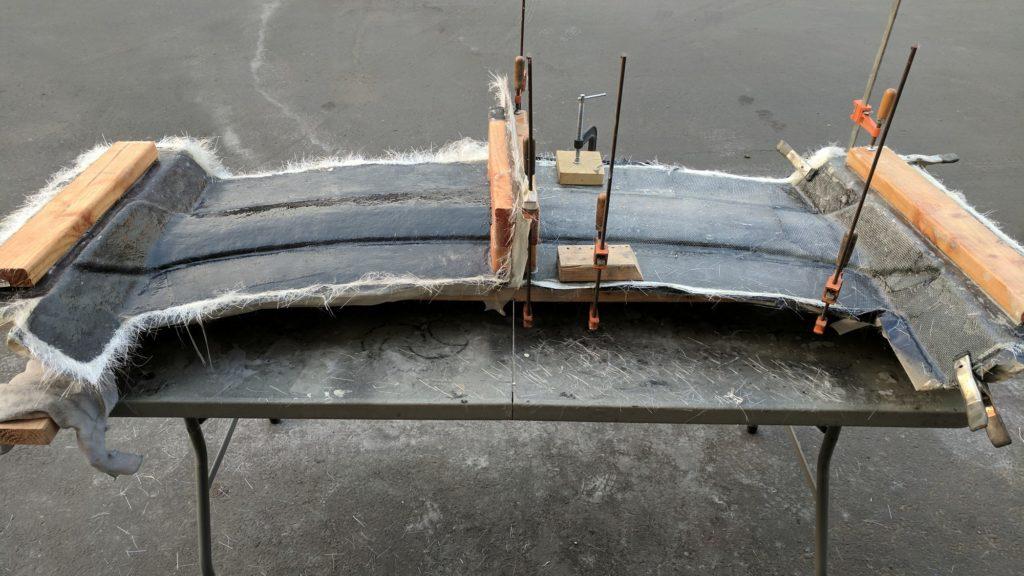 Fiberglass 3 Part Spoiler Mold