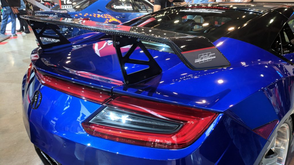 Acura NSX Spoiler Installed at SEMA